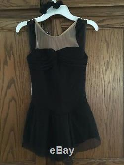 Black Del Arbour Ladies 0-2 Figure Skating Dress Style D79a
