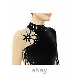 Black Velvet Figure Skating Dress BSU01-21