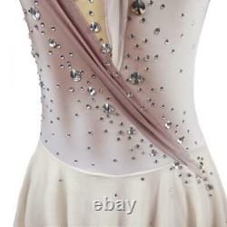 Competition Figure Skating Dress French Gray Ombre BSU22070.1