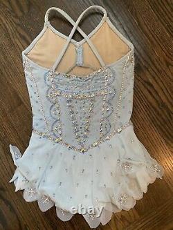 Custom Del Arbour Baby Blue Figure Skating Dress Child 8-10