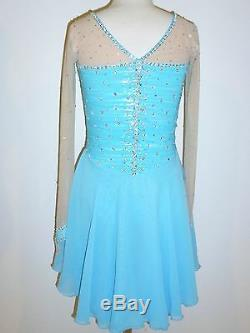 Custom Made To Fit Figure Dance Ice Skating Costume
