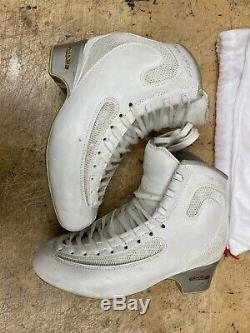 EDEA ICE FLY Figure SKATING BOOTS skate Sz 255 BOOTS C Width