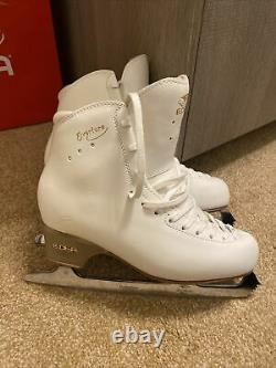 Edea Overture Ladies White Leather Figure Skates 265 UK 6.5/7