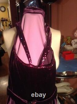FIGURE SKATE handmade DRESS LILA with Swarovski stones sz. SMALL NEW