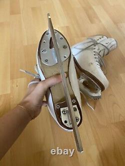 Figure Skates Jackson Premiere Boots White Womens Size 5A with Paramount Blades