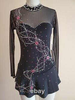 Figure skating dress, del arbour, Baton Twirl strut, Swarovski
