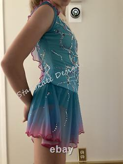 Flight of Butterflies Figure Skating Competition Dress 10-13 year old