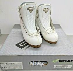 GRAF Richmond Special Womens Figure Skate Boots 3.5 S White NEW
