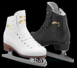 Graf Ace White Leather Boot complete with Blades for Ice/Figure Skating NEW