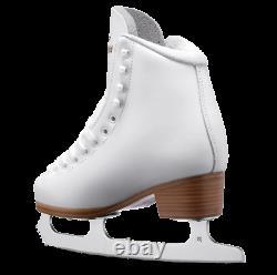 Graf SPLENDID White Leather Ice figure Skates with quality blades M-IV screwed