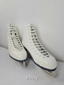 Graf Splendid Figure White Ice Skates UK9 #43 (28.3cm) New