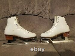 Harlick Ice Figure Skates John Wilson Coronation Comet Skating women's size 7