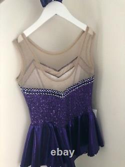 Ice Figure Skating Dress / Baton Twirling / Roller Skating Costume Age 12-14