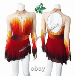 Ice Skating Dress. Figure Skating Costume. Baton Twirling Competition Tap Costume