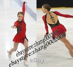 Ice Skating Dress. Red Figure Skating. Acrobatics Baton Twirling Dance Costume