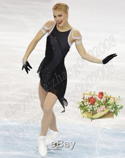 Ice skating dress. Black Competition Figure Skating Dress /Baton Twirling Costume