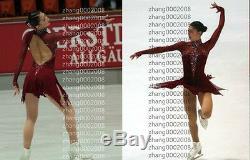 Ice skating dress. Wine Competition Figure Skating dress. Baton Twirling Costume