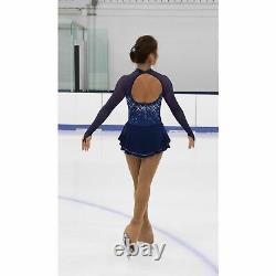 Jerry's Figure Skating Long Sleeved Dress 483 Stars On Sapphire