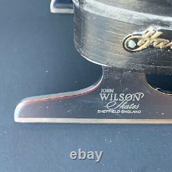 Mens Black HARLICK FIGURE SKATES John WILSON Coronation Comet blades size 9 AA
