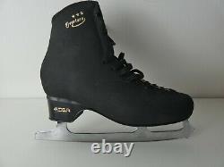 New EDEA Overture Black Figure Ice Skates -UK10