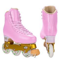 New G H Loop LT Pink Inline Figure Skates US Unisex Size 6C