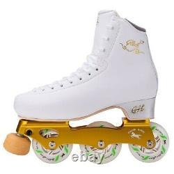 New G H Loop LT White Inline Figure Skates US Size 3.5