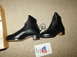 New Old Stock Riedell Mens F355 Figure / Roller Skating Boot Only Sz 7.5 M Black