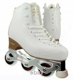New Snow White + Edea Motivo Inline Figure Skates size 250