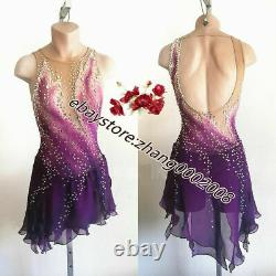 New Stylish Ice figure skating dress. Competition Dance Twirling Skating Costume