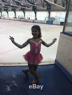 Princess Competition Ice Figure Skating Dress Girls size 6 to 8 years old