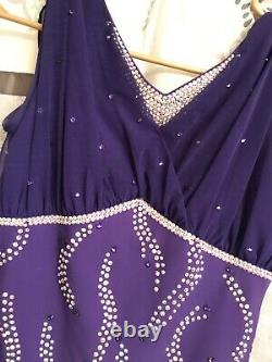 Purple Imperial Ice Figure Skating Dress Dance Competition Leotard Adult