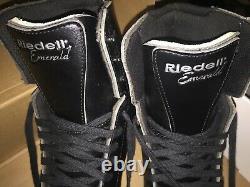 RARE RIEDELL EMERALD FIGURE ICE SKATES 119B Micro Fiber black U. S Men SIZE 8