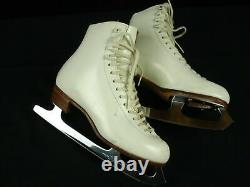 Riedell 320 Club 2000 Blade Ice Figure Skates Leather Soles 7.5
