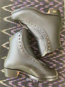 Riedell 355 Silver Star Mens Size 6 Black Leather Ice/Figure Skate Boots