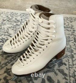 Riedell 375 C/B White Figure Ice Skates John Wilson 9 3/4 Blades Pattern 99 Sz7