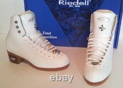 Riedell #43 Bronze Star girl's figure skate boots 21/2 or 3 NEW