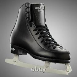 Riedell Emerald Men's Skate Size 10 Black Figure Ice Skates, New With Tuffterrys