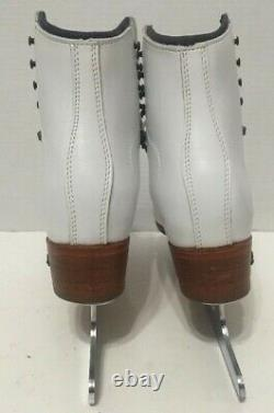Riedell Ice Figure Skates Model 300 With Sapphire Blades Womens Size 5.5W