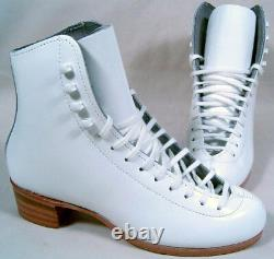 Riedell White 55 Silver Star Figure Skate 1.5 Aa/aaa