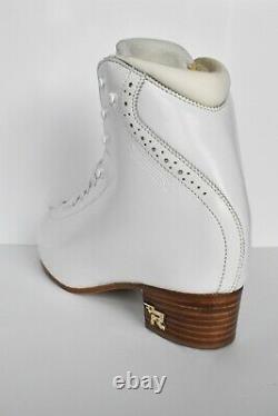 Risport RF1 Figure Ice Skates White Size 260 (26.0) Width B (Worn Twice)
