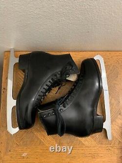 SP-Teri Figure skating boots Black, MK Professional Freestyle blades 9.5 B