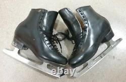 SP-Teri Figure skating boots Size 7 C Black, MK Professional Freestyle blades