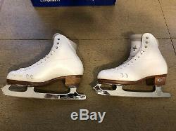 Size 6 1/2 B/A Riedell 2010 Fusion Figure Skating Ice Skates Womens Ladies 6.5