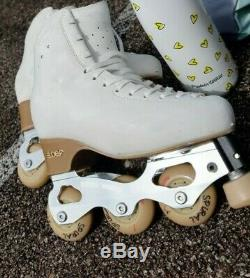 Snow White Off Ice Skating Plate only Wheels figure skating inline 235-240