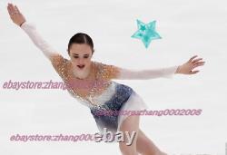 Stylish Ice Skating Dress. Competition Figure Skating Dance Twirling Costume