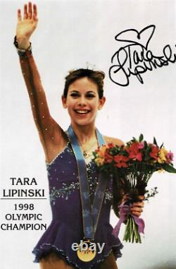 Tara Lipinski AUTOGRAPHED CUSTOM HARLICK Figure SKATES Womens size 4 NIB