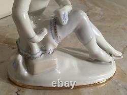 Vintage Lomonosov Porcelain Russian Figure / Ice Skating Figurine Beautiful