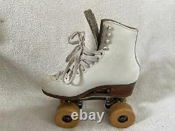 Vintage harlick the competitor Mod E86 skates Size 5 1/2 B Hyper Tracer Figure