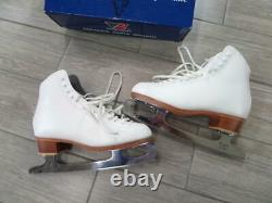 Womens RIEDELL figure ice skates 292 white 6.5 john wilson blade